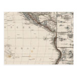 Mapa de Polinesia Tarjeta Postal