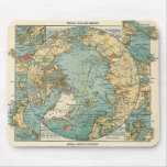 Mapa de Polo Norte Alfombrillas De Ratón