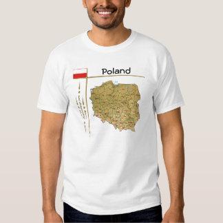 Mapa de Polonia + Bandera + Camiseta del título Remera