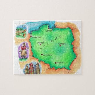 Mapa de Polonia Rompecabezas Con Fotos