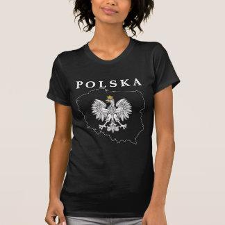 Mapa de Polska con Eagle Camisetas
