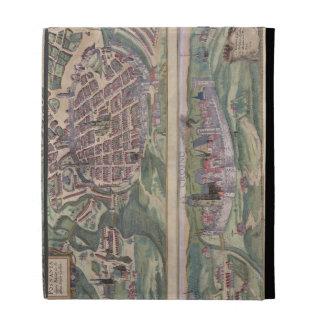 Mapa de Poznán y de Gruczno, de 'Civitates Orbis T