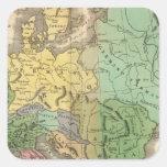 Mapa de provincias en el imperio romano pegatina cuadrada