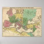 Mapa de provincias en el imperio romano póster