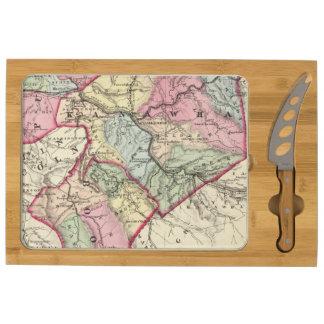 Mapa de Putnam, Kanawha, condados de Boone
