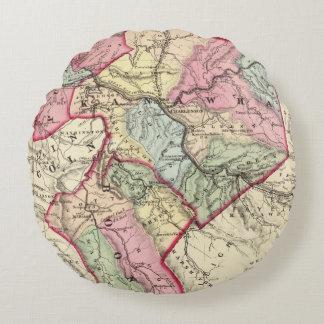 Mapa de Putnam, Kanawha, condados de Boone Cojín Redondo