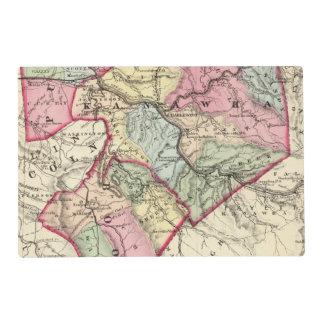 Mapa de Putnam, Kanawha, condados de Boone Salvamanteles