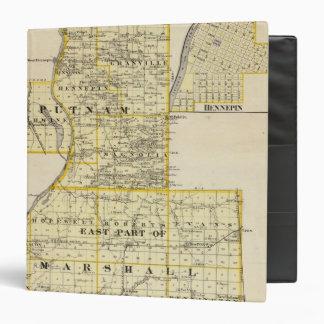 Mapa de Putnam y parte del este de los condados de