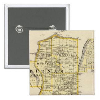 Mapa de Putnam y parte del este de los condados de Pin