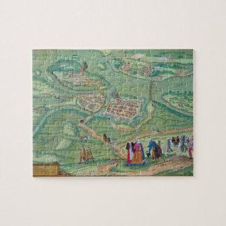 """Mapa de Raab, de """"Civitates Orbis Terrarum"""" por GE Rompecabeza Con Fotos"""