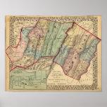 Mapa de Randolph, condados de Pendleton Poster