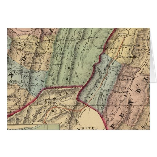 Mapa de Randolph, condados de Pendleton Tarjeta De Felicitación