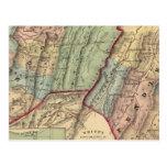 Mapa de Randolph, condados de Pendleton Tarjetas Postales
