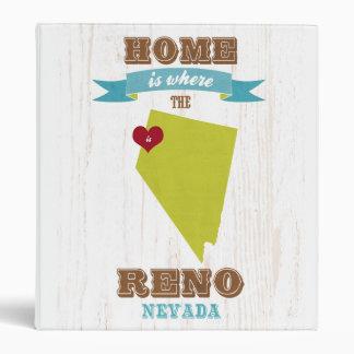 Mapa de Reno Nevada - casero es donde está el cor