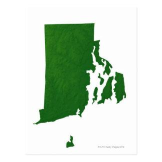 Mapa de Rhode Island 2 Postales
