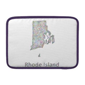 Mapa de Rhode Island Funda Para Macbook Air