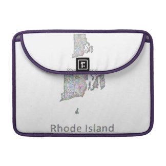 Mapa de Rhode Island Fundas Para Macbook Pro