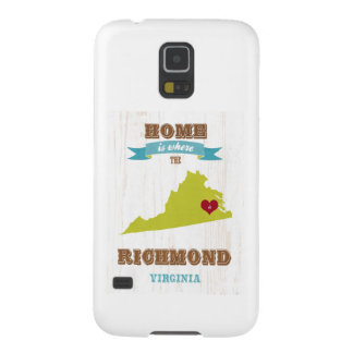 Mapa de Richmond, Virginia - casero es donde Funda Galaxy S5