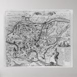 Mapa de Roma antigua Póster