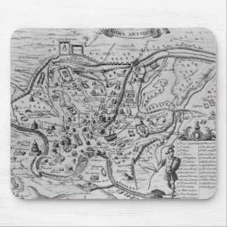 Mapa de Roma antigua Alfombrillas De Ratón
