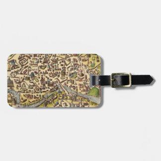 Mapa de Roma del vintage Etiquetas Bolsa