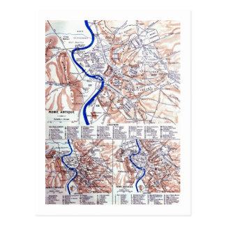 Mapa de Roma Postales