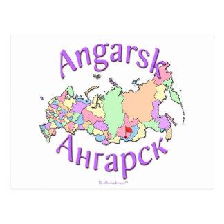 Mapa de Rusia de la ciudad de Angarsk Postal