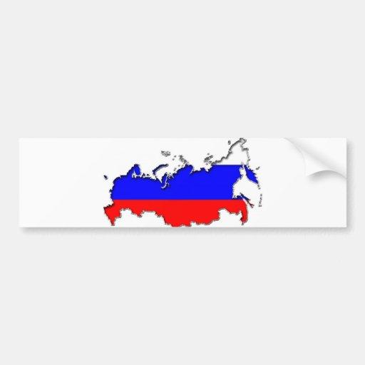 Mapa de Rusia Pegatina Para Auto