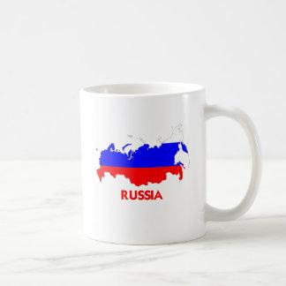MAPA DE RUSIA TAZA BÁSICA BLANCA