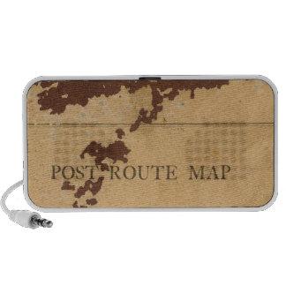 Mapa de ruta del poste del territorio de Dakota Notebook Altavoces