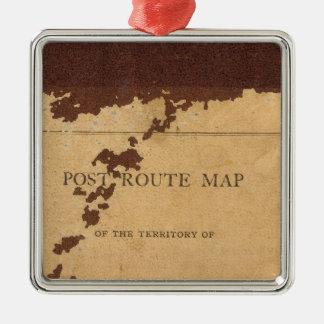 Mapa de ruta del poste del territorio de Dakota Ornamente De Reyes