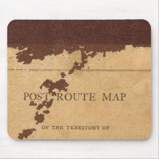 Mapa de ruta del poste del territorio de Dakota Tapete De Raton