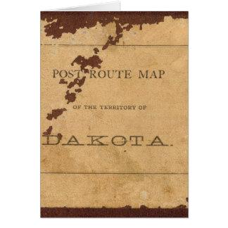 Mapa de ruta del poste del territorio de Dakota Felicitacion