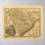 Mapa de rutas de 1833 carriles y de nave de Caroli Impresiones