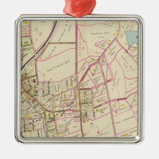 Mapa de Rye, Nueva York Ornaments Para Arbol De Navidad