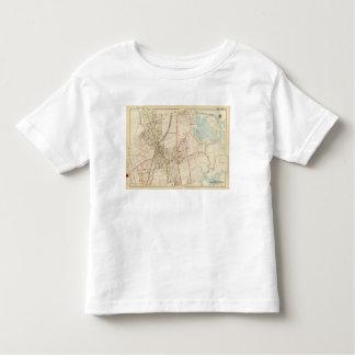 Mapa de Rye, Nueva York Playera De Bebé