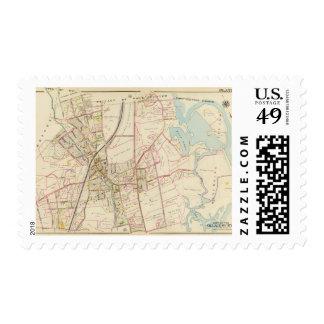 Mapa de Rye, Nueva York Sello Postal