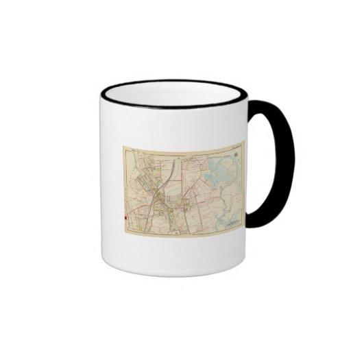 Mapa de Rye, Nueva York Taza