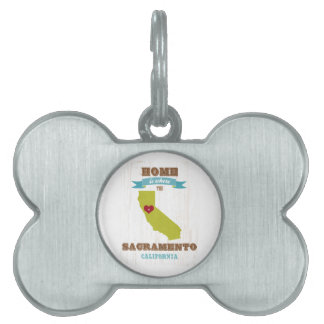 Mapa de Sacramento, California - casero es donde Placas Mascota