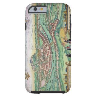 "Mapa de Salzburg, de ""Civitates Orbis Terrarum"" b Funda De iPhone 6 Tough"