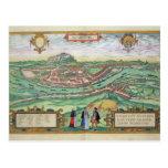 "Mapa de Salzburg, de ""Civitates Orbis Terrarum"" b Postal"