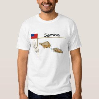 Mapa de Samoa + Bandera + Camiseta del título Poleras