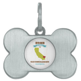 Mapa de San Bernardino, California - casero es don Placa De Nombre De Mascota