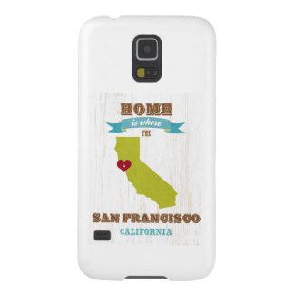 Mapa de San Francisco, California - casero es Funda Para Galaxy S5
