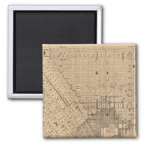 Mapa de San Francisco Imán Cuadrado