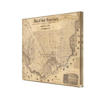Mapa de San Francisco Lona Envuelta Para Galerías