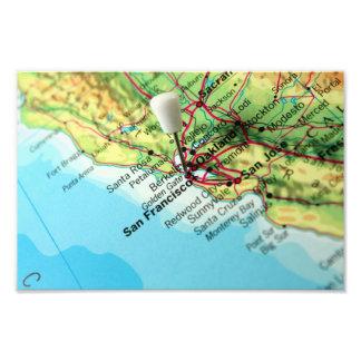 Mapa de San Francisco, los E.E.U.U. Impresiones Fotograficas
