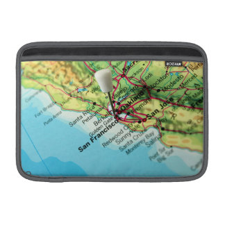 Mapa de San Francisco, los E.E.U.U. Fundas Macbook Air