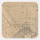 Mapa de San Francisco Pegatina Cuadrada