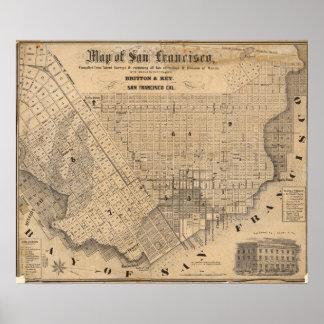 Mapa de San Francisco Póster